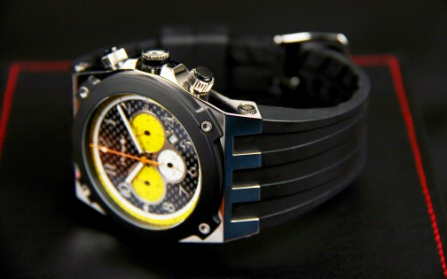 MARANELLO V8 QUARTZ CHRONOGRAPH BLACK-YELLOW
