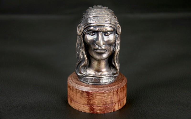 "RADIATOR CAP MASCOT ""INDIAN HEAD"""