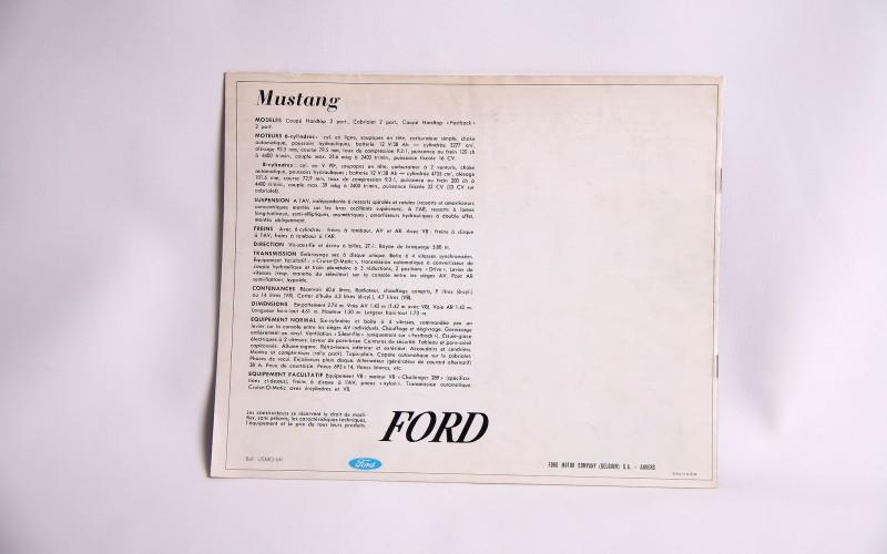 1965 FORD MUSTANG CATALOG