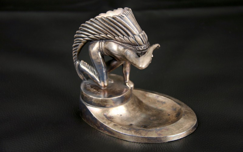 RADIATOR CAP MASCOT INDIAN