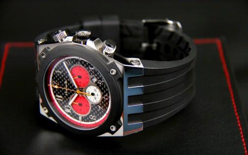 MARANELLO V8 QUARTZ CHRONOGRAPH BLACK-RED