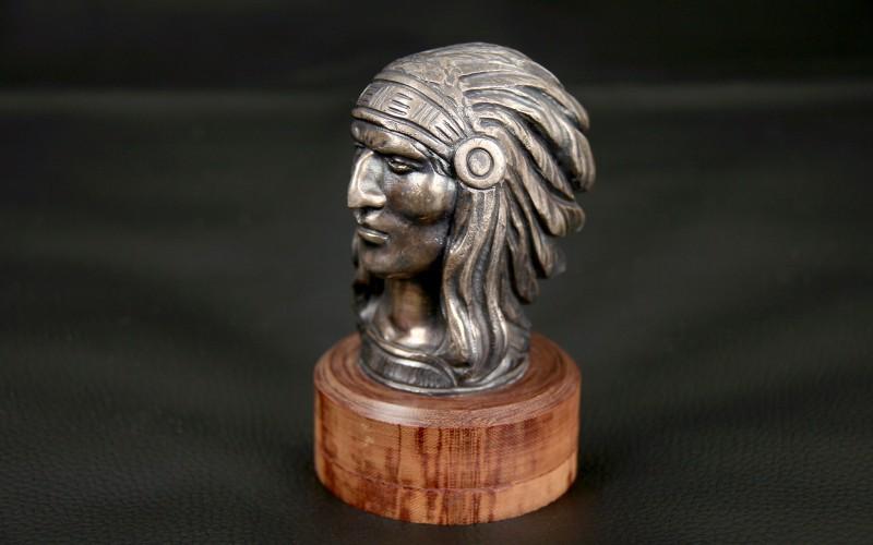 "RADIATOR CAP MASCOT ""INDIAN HEAD"""