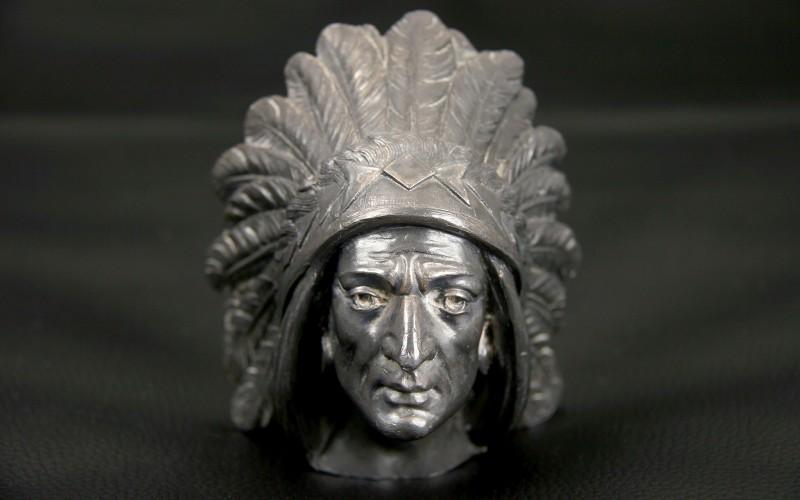 "RADIATOR CAP MASCOT ""APACHE INDIAN"""