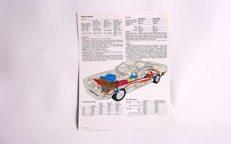 1969 SHELBY GT CATALOG